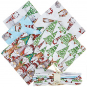 Gnoming Through the Snow 5 Easy Pieces Fat Quarter Bundle