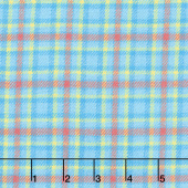 Primo Plaid - Blue/Orange Plaid Flannel Yardage