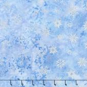 Artisan Batiks - Snowflakes 2 Small Snowflakes Glacier Metallic Yardage