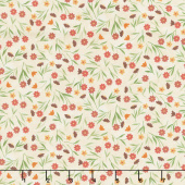 Colorful Cats - Field of Flowers Vanilla Yardage