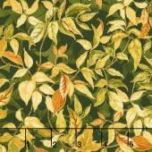 Autumn Air - Rustling Leaves Oak Metallic Yardage
