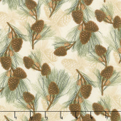 Festive Forest - Pine Cones Tan Yardage