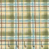 Wild and Free - Lodge Plaid Light Forest Yardage
