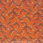 Downton Abbey - The Egyptian Collection Egyptian Art Orange Yardage