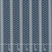 Portsmouth - Dotted Stripe Navy Yardage