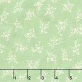 Afternoon in the Attic - Cameo Blossom Mint Flannel Yardage