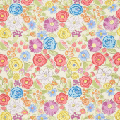 Color Fusion - Bouquet Yellow Yardage