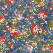 Belle Epoque - Bold Floral Navy Yardage