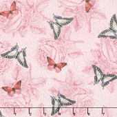 Le Bouquet - Butterflies Pink Yardage