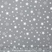 Cozy Cotton Flannels - Stars Grey Yardage