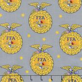 FFA Forever Blue - FFA Emblem Gray Yardage