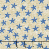 Shoreline - Starfish Blue Yardage