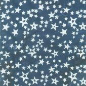 Tonga Batiks - Firework Stars of All Sizes Navy Yardage