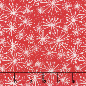 Make Merry - Snowflakes Red Yardage