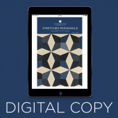 Digital Download - Stretched Periwinkle Quilt Pattern by Missouri Star