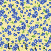 Summer Breeze V - Flowers & Leaves Yellow Yardage