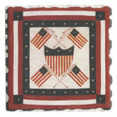American Quilts Coaster - Stars & Stripes Shield