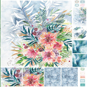 Moody Bloom - Floral Blooms Multi Digitally Printed Panel