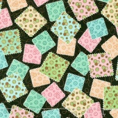 Sewing Mends the Soul - Fabric Squares Black Yardage