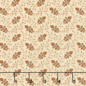 Lancaster - Leaf Vine Cream Yardage