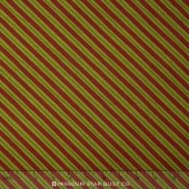 Delightful December - Candy Cane Stripe Berry Pine Yardage
