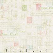 Hopelessly Romantic - Stamps Cream Yardage