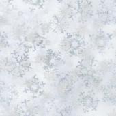 Artisan Batiks - Snowflakes 2 Small Snowflakes Frost Metallic Yardage