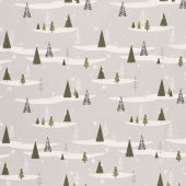 Winterberry - Trees Gray Yardage