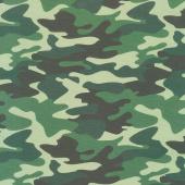 Nobody Fights Alone - Camouflage Green Yardage