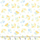 Spring Brook - Daisies Cloud Yardage