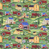 Farmall - Folk Art Scenic Multi Yardage