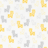 Cozy Cotton Flannels - Yellow Giraffes Yardage