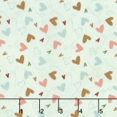 But First, Coffee! - Hearts Teal Yardage