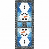 MSQC Artisan Batik Half-Hexy Snowman Table Runner Kit