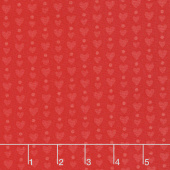 Red-iculously in Love - Hearts & Dots Tonal Red Yardage