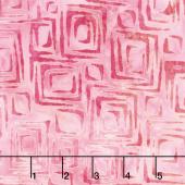 Artisan Batiks - Artful Earth Squares Hot Pink Yardage