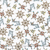 High Tide - Nautical White Yardage
