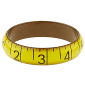 Missouri Star Measuring Tape Bracelet - Medium Yellow