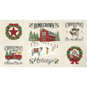 Homegrown Holidays - Farmhouse Winter White Panel
