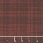 Another Moose Is Loose - Wool Plaid Berry Yardage