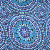 "Kaffe Fassett - Blue 108"" Wide Backing"
