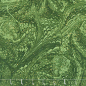Enchanted - Marble Green Metallic Yardage
