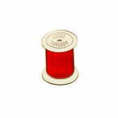 Loose Threads Red Pin by Pin Peddlers