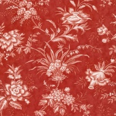 "Snowberry - Floral Toile Berry 108"" Wide Backing"