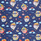 Noah's Ark - Main Navy Yardage