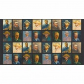 Vincent Van Gogh 3 - Van Gogh Self Portrait Multi Digitally Printed Panel