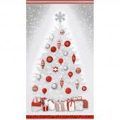 Winter's Grandeur 6 - Winter Christmas Tree Winter Metallic Panel