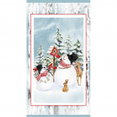 Snow Days - Snowman Blue Panel