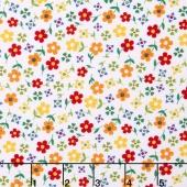 Gingham Girls - Gingham Blossom White Yardage