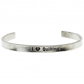 I Heart Quilting Quotable Cuff Bracelet